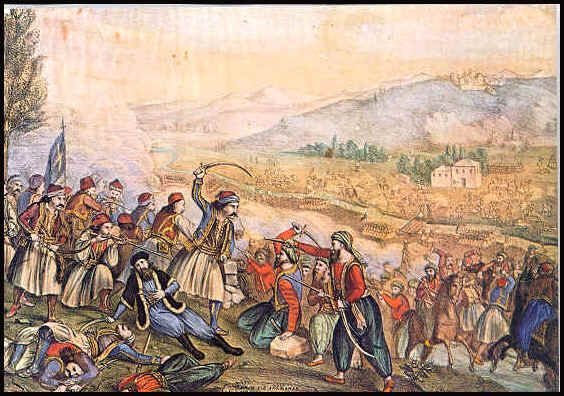 The Battle of Alamana was fought between the Greeks and the Ottoman Empire during the Greek War of Independence on April 22, 1821.