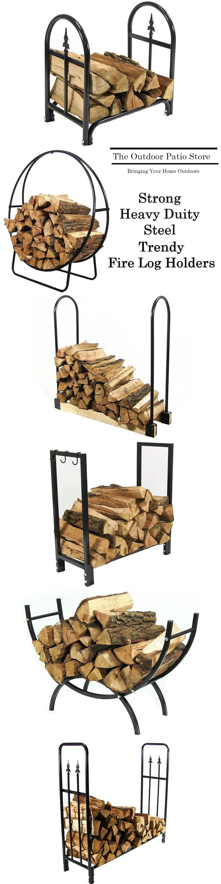 The Outdoor Patio Store has the absolute best fire log holders and outdoor fire supplies.