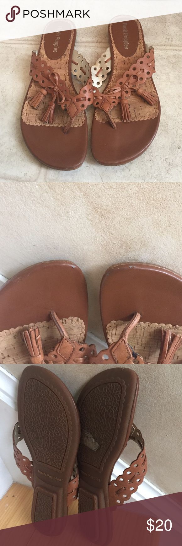 ☄️SALE ☄️Hush Puppies camel flip flop sandals Elegant and simply nice Hush Puppies Shoes Sandals