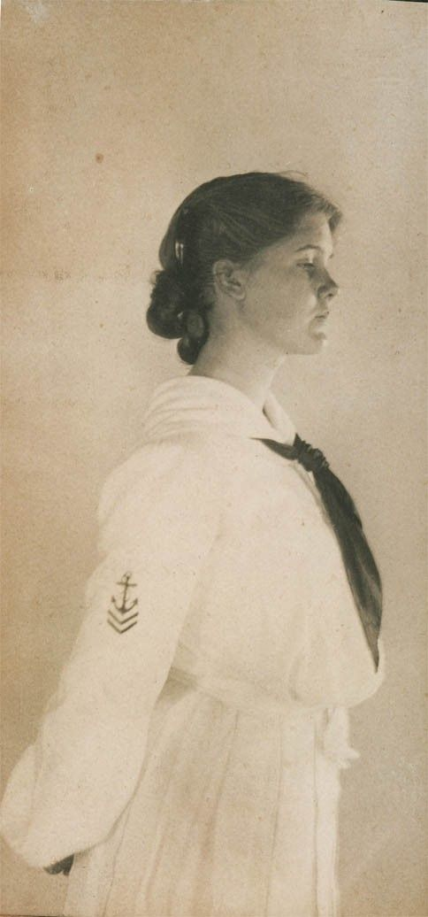 reserved for Kbuda 1900 Beauty Lady Profile in Sailor door maclancy