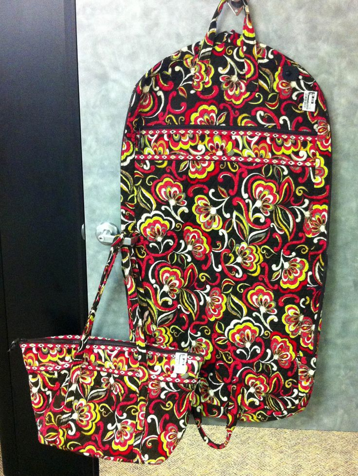 Vera Bradley garment bag and large tote. Why stay home?