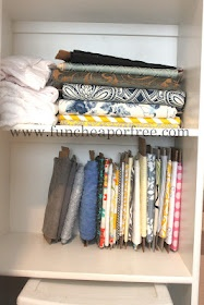 Storing your fabric for a better view of what you have! I gotta do this!!