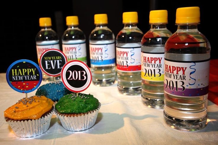 Drink bottle labels and cupcake toppers