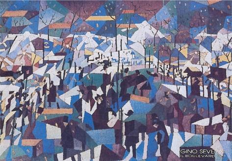 The Boulevard, 1904, by Gino Severini