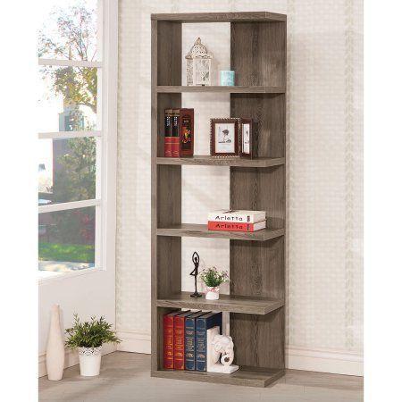 Coaster Furniture Half-Back Bookcase, Gray #coasterfurnitureshelves #coasterfurniturehome #coasterfurniturebrown