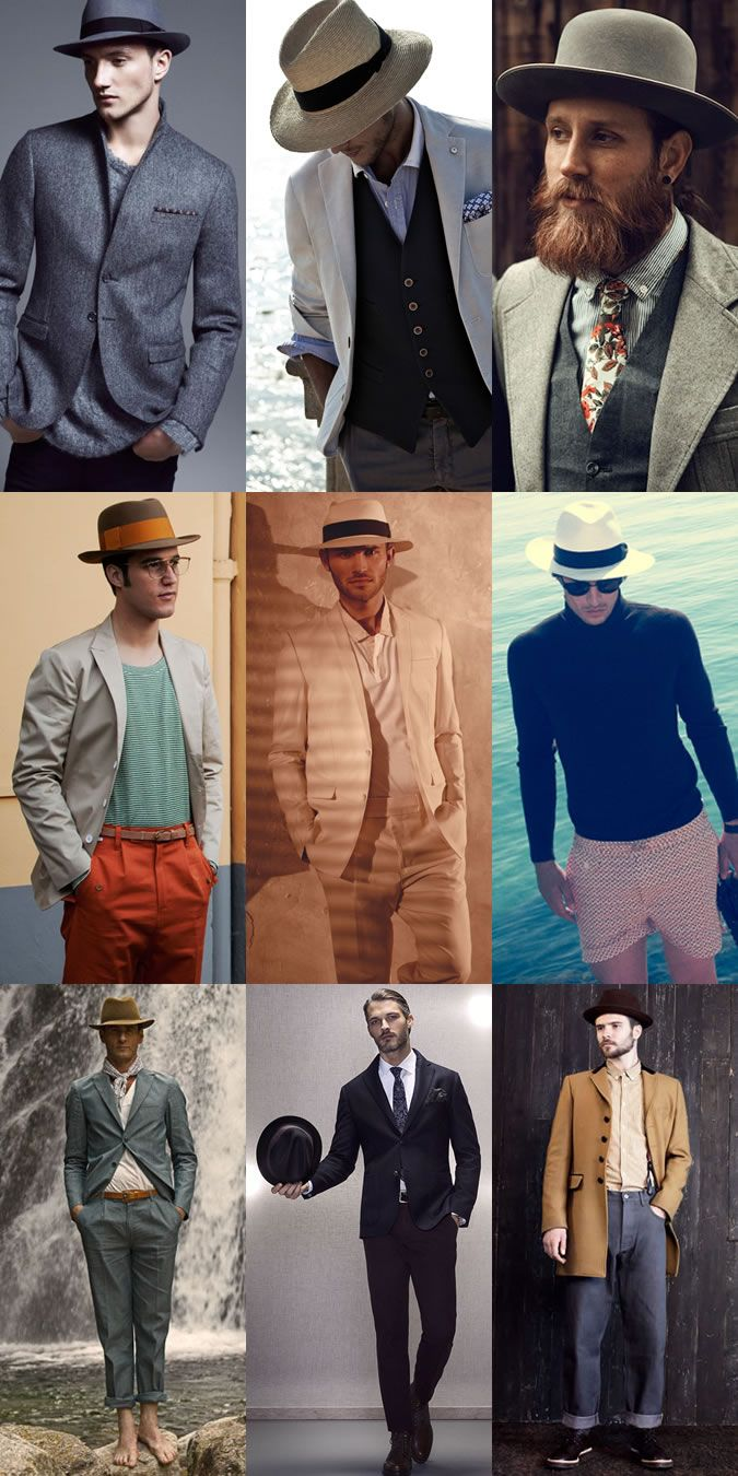 Men's Wide Brim Hat Outfit Inspiration Lookbook #bigmenshats #bighats #menshats