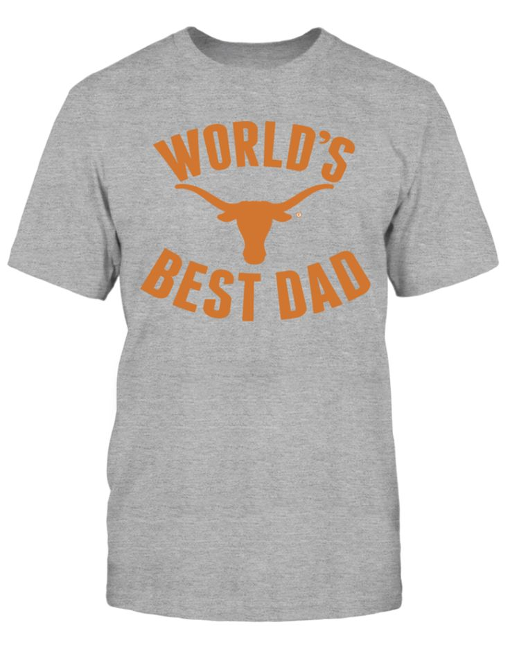 UT Longhorns World's Best Dad T-Shirt for Father's Day A great gift for a University of Texas alumni. Order now: https://www.fanprint.com/longhorndad?ref=3036&style=35 #universityoftexas #UTdad #longhorns #worldsbestdad #fathersday #longhorn #UT