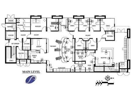 Floor Plan Veterinary Interior Ideas Hospital Design