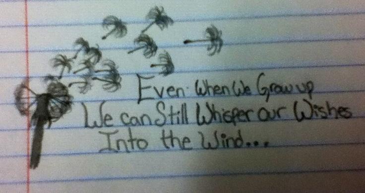 Dandelion tattoo quote