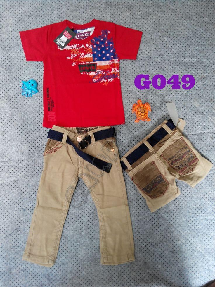 T-shirt Levis boyset (jeans + belt) (G049) || Size 1-2 tahun || IDR 130.000
