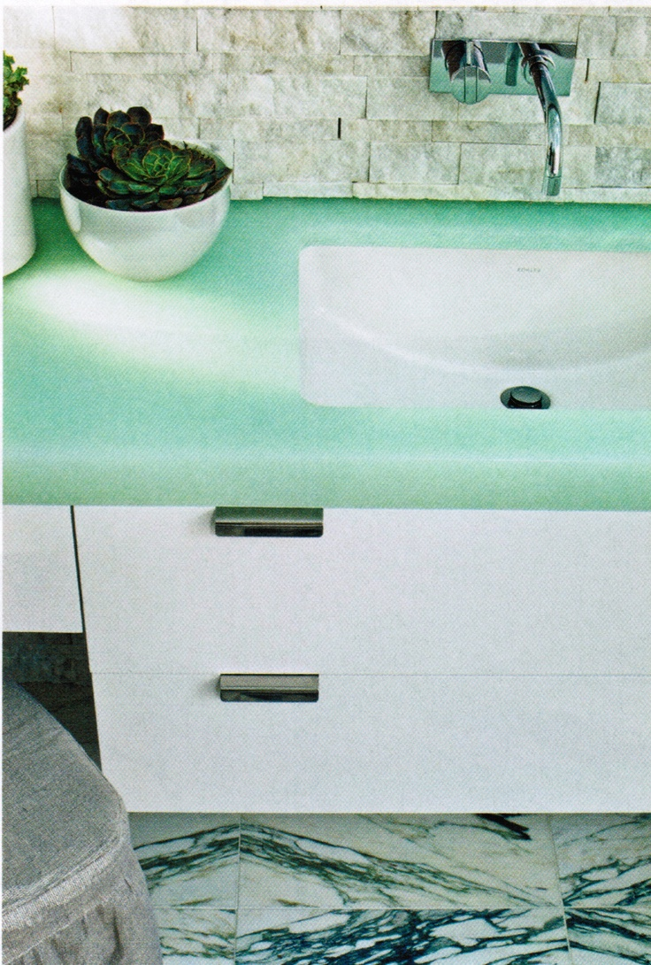 Superior Bio Glass Countertops #14 - Bio Glass Countertop As Seen In House Beautiful, Design By Laura Bohn