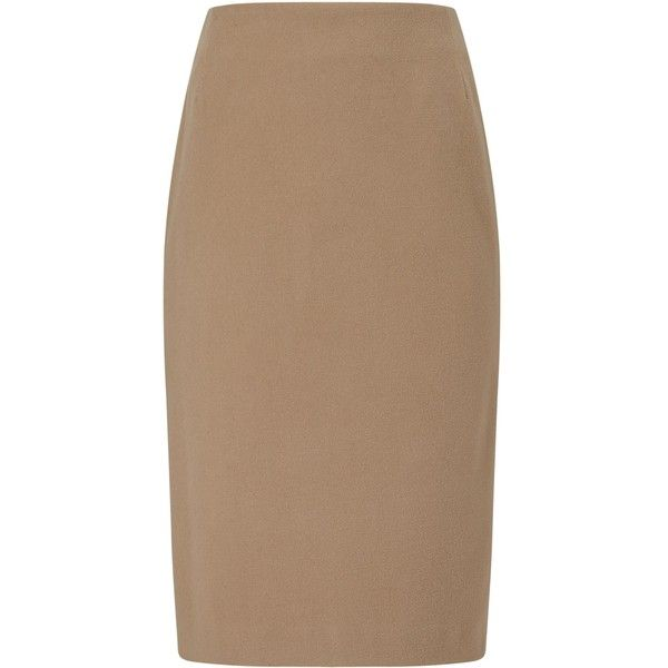 Eastex Velour Pencil Skirt ($84) ❤ liked on Polyvore featuring skirts, brown, women, velour skirt, brown pencil skirt, brown skirt, knee length pencil skirt and pencil skirt