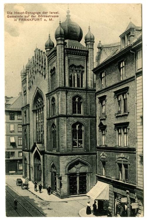 Synagogue in the Bornestrasse, Frankfurt am Main, Germany, early 20th century