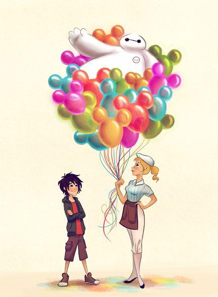 #DisneySide Doodles: Baymax & Hiro on Main Street, U.S.A. « Disney Parks Blog