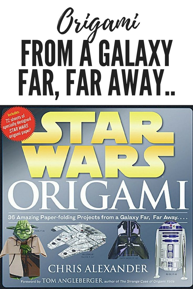 Star Wars Origami Book - 36 projects with paper to make your favourite characters, awesome! May the force be with you! check it out! #origami #yoda #tutorials #starwars #mtfbwy #ad