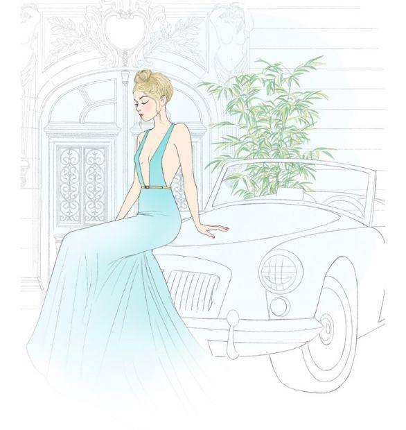illustration delphine soucail soiree.jpg - Delphine SOUCAIL | Virginie