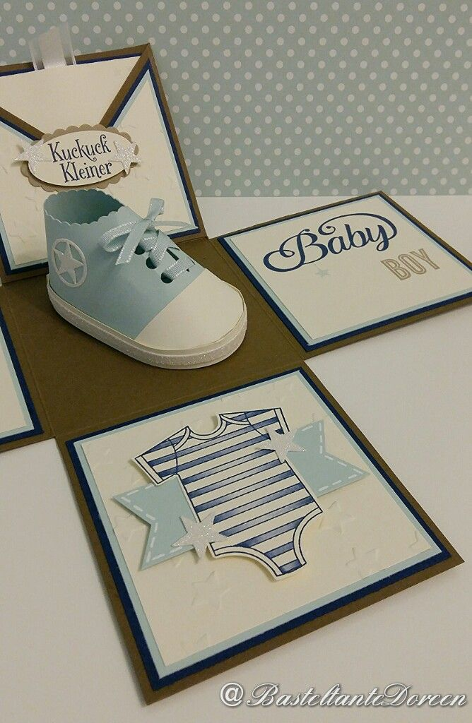 Explosionsbox fürs Baby - Stampin Up - Zum Nachwuchs - Silhouette Cameo (Baby Diy Ideas)