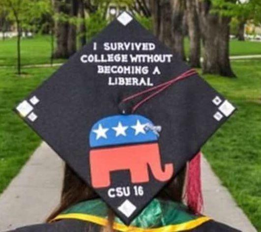 Graduation caps for the conservative woman gop grad caps