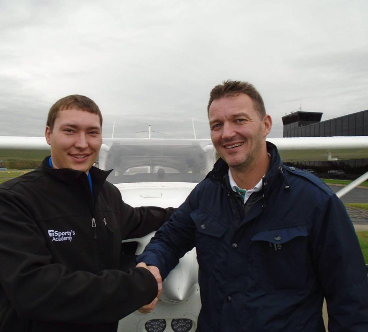 Dan Jacobsen added an Instrument rating to his pilot certificate on October 30 2017. To obtain his Instrument Rating Dan passed an oral and a flight exam with a Federal Aviation Administration designated flight examiner. Dan a resident of Denmark completed his flight training with Sportys Academy located at the Clermont County Airport in Batavia Ohio.  Dan is pictured with his instructor Cody Chesher.  #Congratulations #InstrumentRating https://www.instagram.com/p/Bbxc1gNFJTk…
