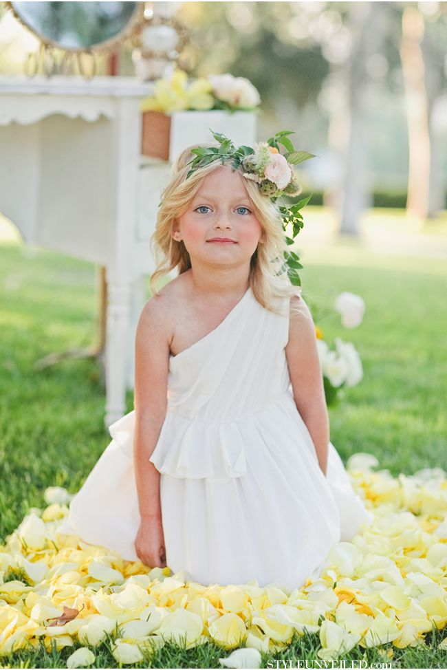BHLDN Flower Girl Dresses / onelove photography / Tea Party Tablescape / via StyleUnveiled.com