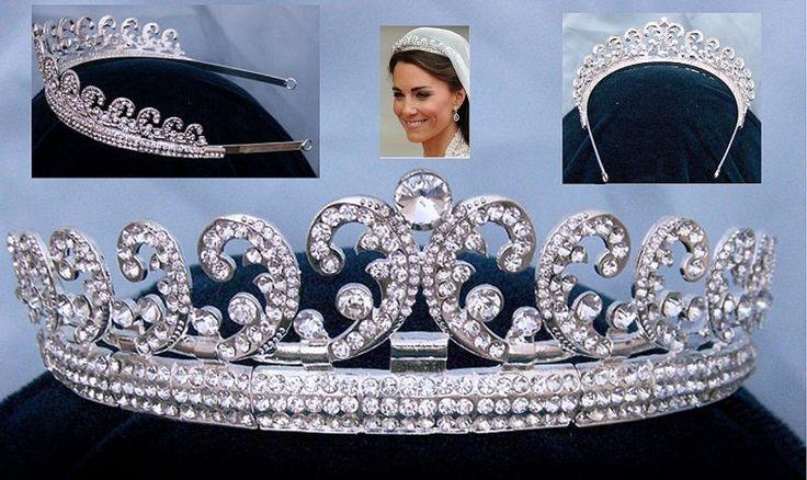 Royal Kate Middleton Inspired Crystal Diamante Silver Bridal Tiara