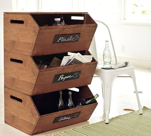 Best Recycling Storage Ideas Images On Pinterest Organization