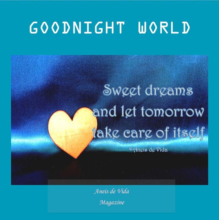 GOODNIGHT WORLD FROM #Aneisdevida Sweet dreams everyone xx https://aneisdevida.co.za