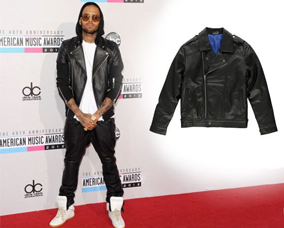 Celeb style icons are rocking the monochrome trend – whatever the season it never fails to make an impression. Here are tips and tricks on putting together looks for the boys.   Chris Brown rocks the leather look