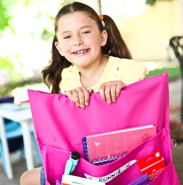 These Chair Bags are perfect for school and home storage. Available from www.schoolbags.com.au #Chairbag #backtoschoolideas #backtoschool #booklist #schoolstuff