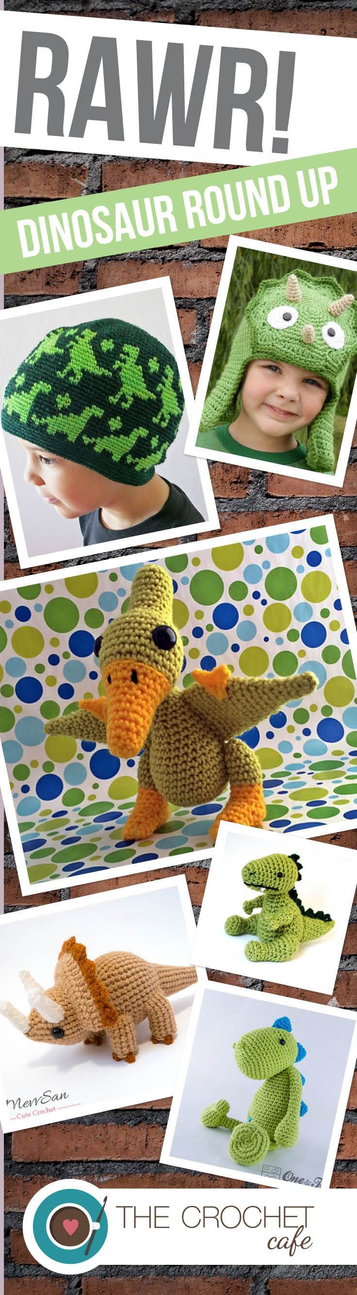 RAWR! The best Dinosaur crochet patterns around! Perfect for little (and big) kids and dino lovers of all ages!