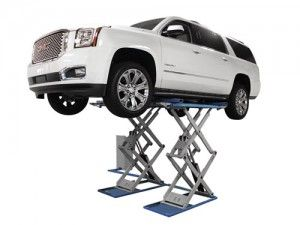 http://www.gregsmithequipment.com/Atlas-SLP-9K-Full-Rise-Scissor-Lift - Greg Smith Equipment Sales offers a 9,000 lbs. capacity floor mounted full rise automotive scissor lift for those customers who prefer a high capacity low profile car lift to the traditional 2 post car lift or four post car lift. The Atlas® SLP-9K offers several benefits over the traditional 2 post lift or 4 post lift. The Atlas® SLP-9K scissor lift can be floor mounted or