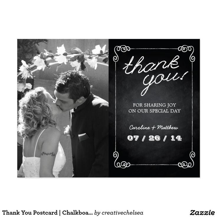 Thank You Postcard | Chalkboard Style