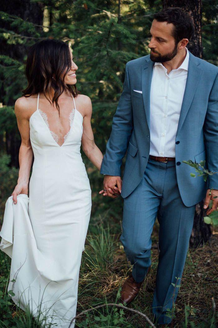 Spaghetti Straps Floor-length Wedding Dresses