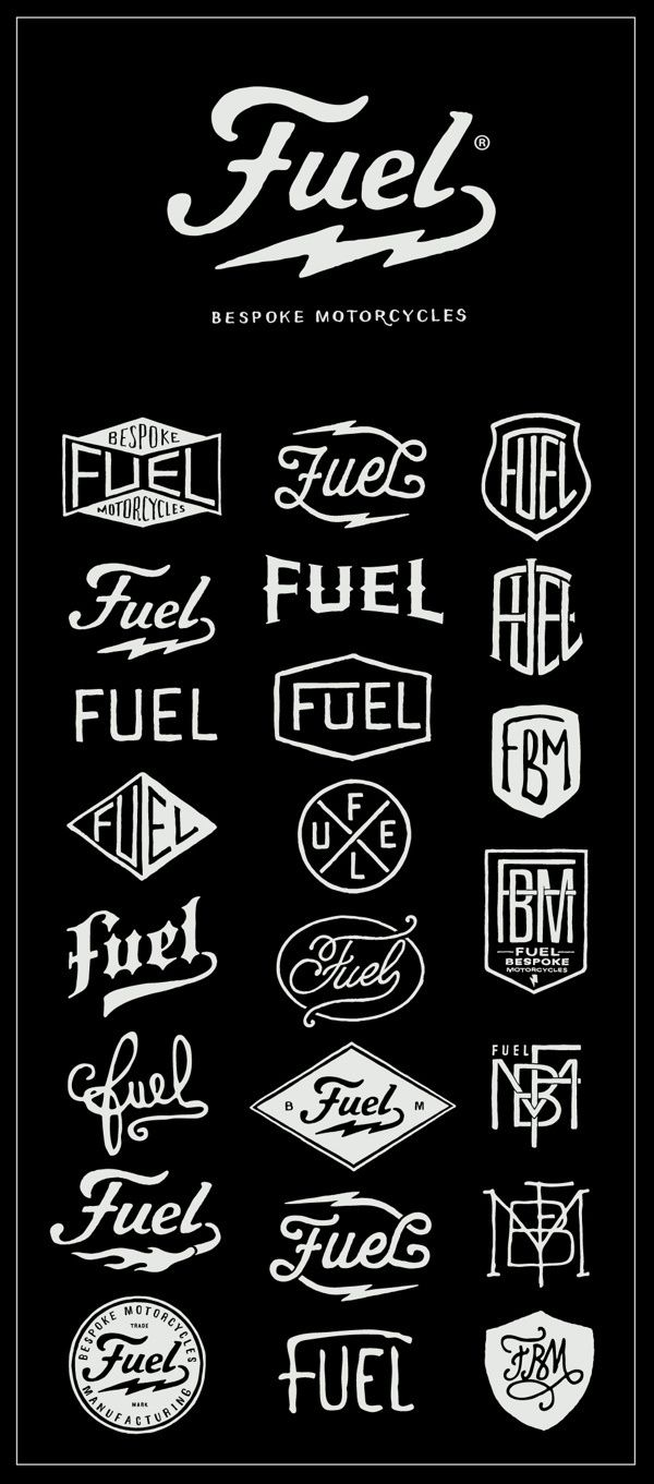 Fuel Motorcycles New logo on Behance in Lettering
