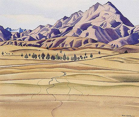Rita Angus - Mountains And Foothills