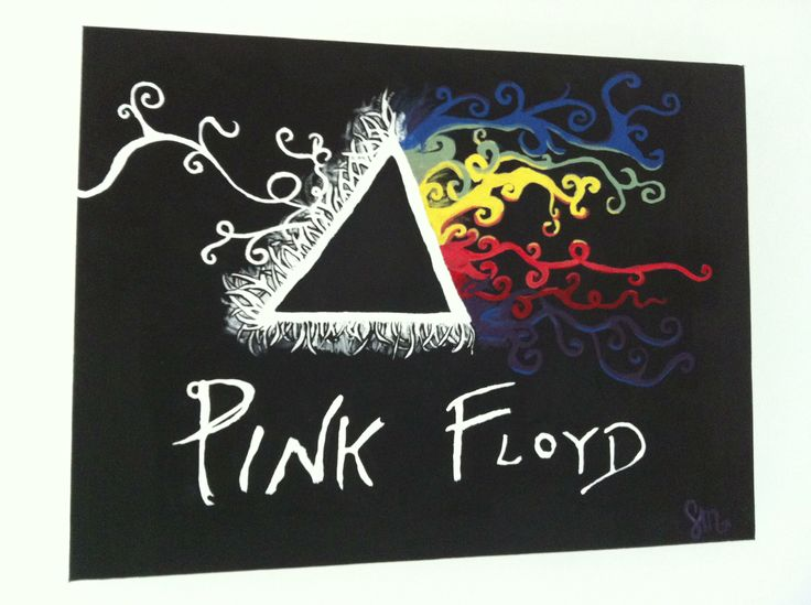 Pink floyd - darkside of the moon acrylic paint