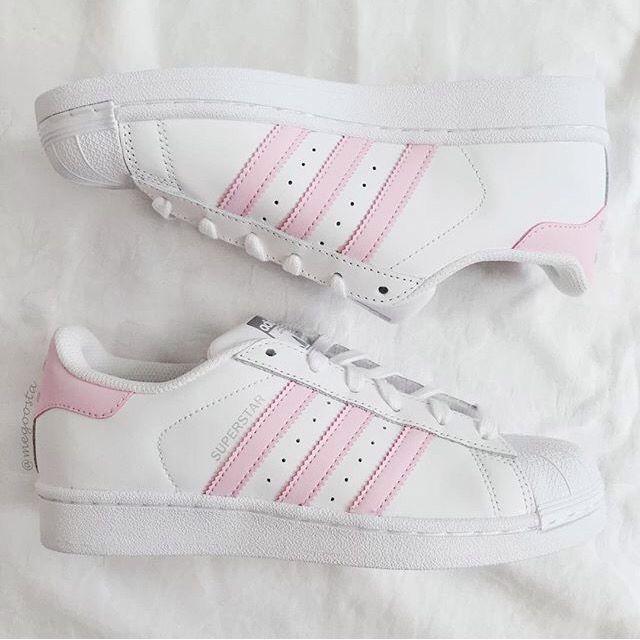 adidas superstar rayas rosa palo