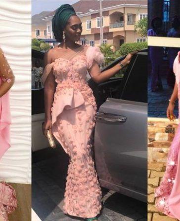 d7440e1dc7ec4 Asoebi Styles #88: Peekaboo Lace | Kamdora | Gowns dresses in 2019 ...
