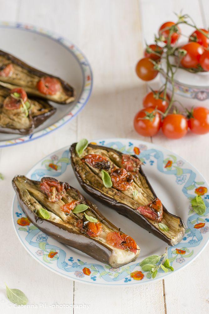 Semplicemente Light: Melanzane leggere con pomodorini e origano fresco cotte al forno
