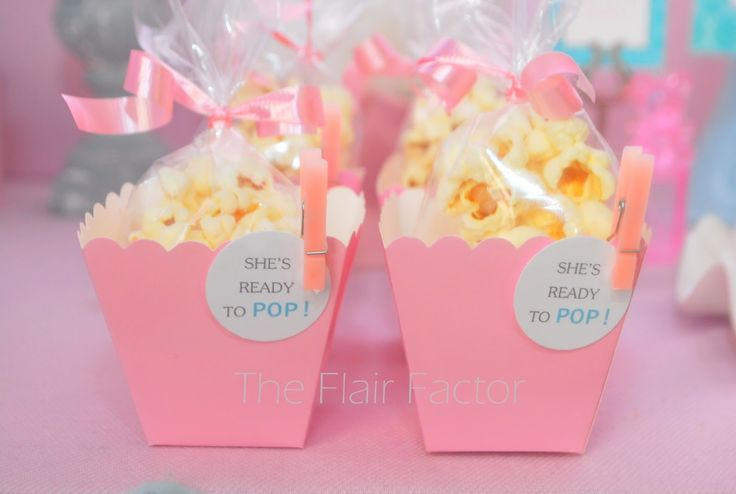 Fête Fanatic: Baby Shower: Popcorn favors