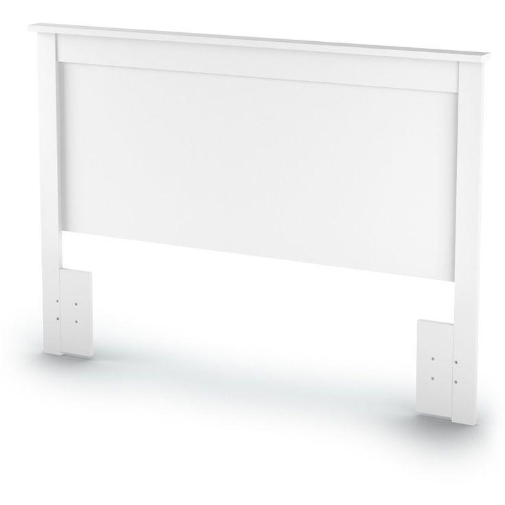 Full / Queen size Headboard in White Finish