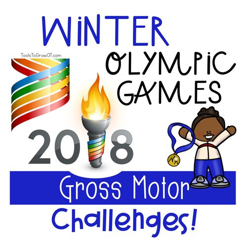 Winter Olympic Games! Gross Motor Challenges. Includes 10 Olympic Event Posters, detailed instructions, material list and set up, 3 Record Tracker Forms and FREE Printable Medal to color and decorate.