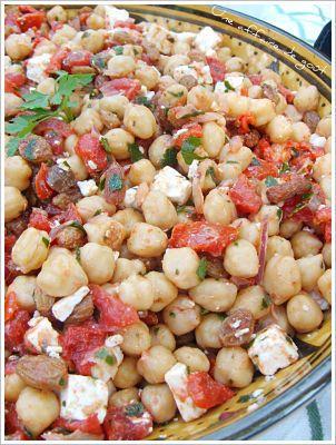 """Salade de pois-chiches aux épices """"à l'orientale"""""""