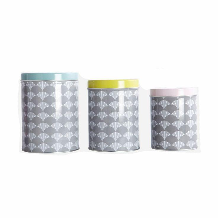Tin Förvaringsbox 3-Pack - House Doctor