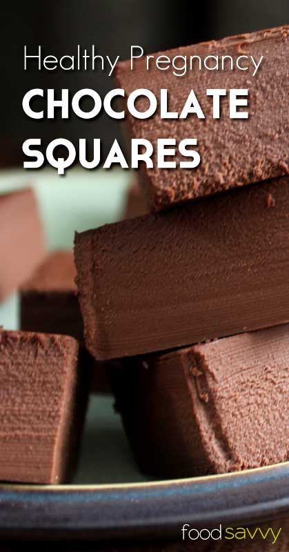 Pregnancy Chocolate Squares- A Healthy  Nourishing Treat | Food Savvy