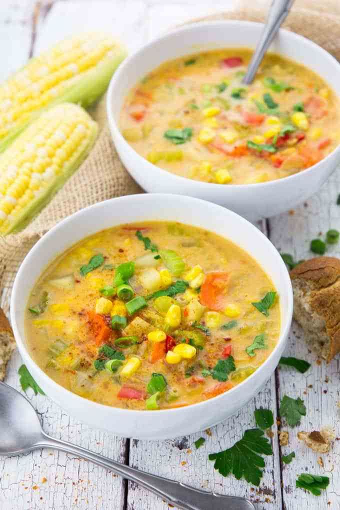 15 Easy Soup Recipes To Heal You Live Better Lifestyle Vegan Corn Chowder Vegan Soup Recipes Chowder Recipes