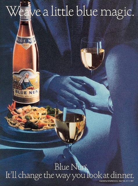 Cliffy - Blue Nun Wine by LitaMalibu, via Flickr
