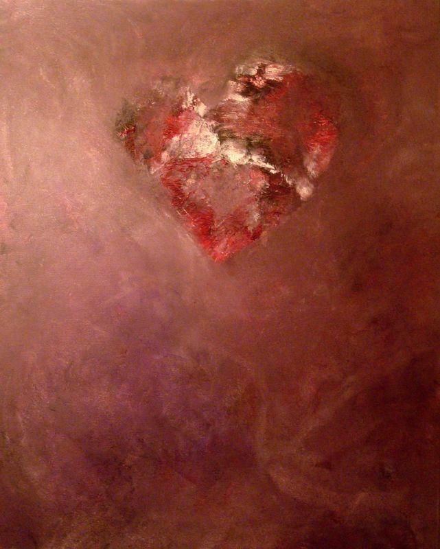 Srdeční záležitost  2015  akryl, 30×50 cm  plátno na sololitu  (soukromý vlastník – Praha - Západ)