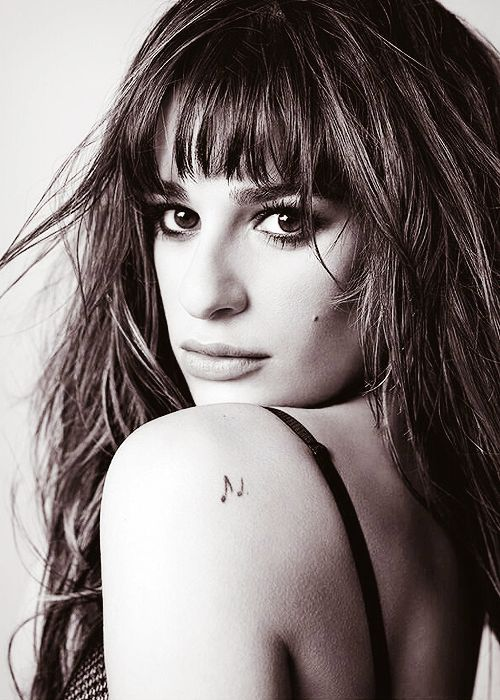 Lea Michele... Not only do I LOVE her, but I love the simple tattoo