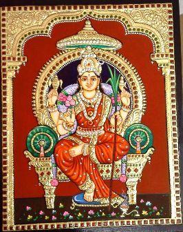 RajaRajeshwari - Tanjore Painting